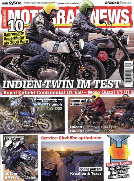 Motorrad News Abo (12 Ausgaben) für 27,40 € mit 15 € BestChoice-Universalgutschein/ 10 € Verrechnungsscheck