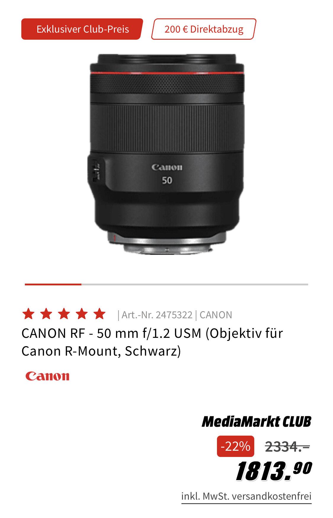 Canon RF 50mm 1.2