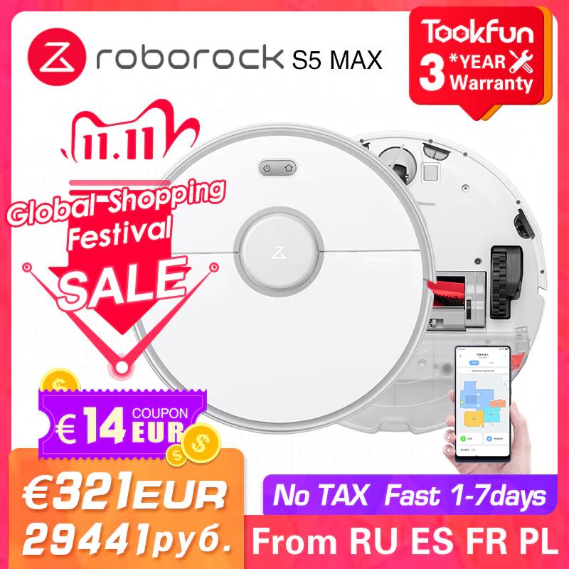 [ALIEXPRESS] Roborock S5 Max Saugroboter mit Wischfunktion (2020 Version) - Versand aus der EU am 11.11.20 (Singles Day)