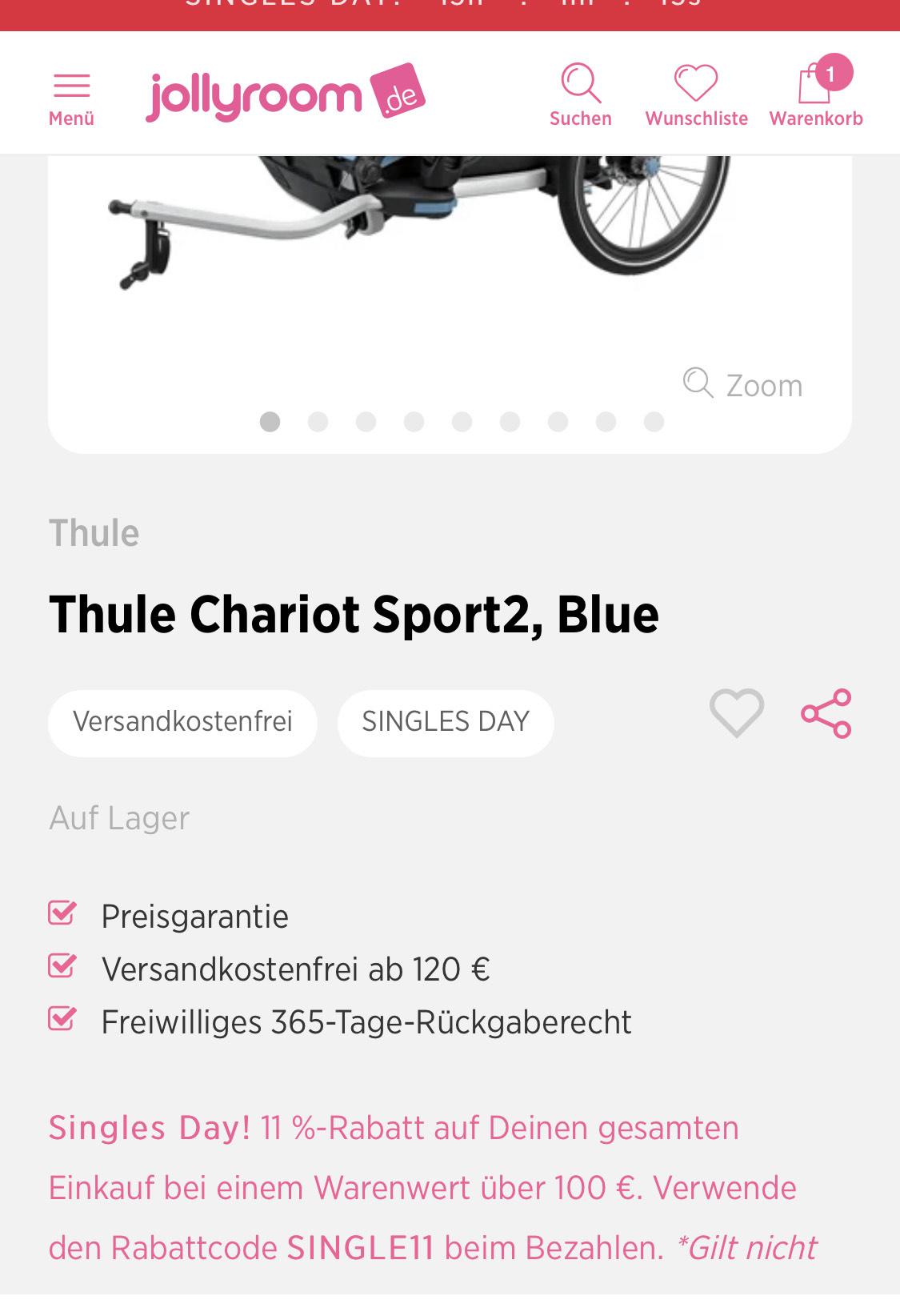 Thule Chariot Sport 2 für 890 Euro