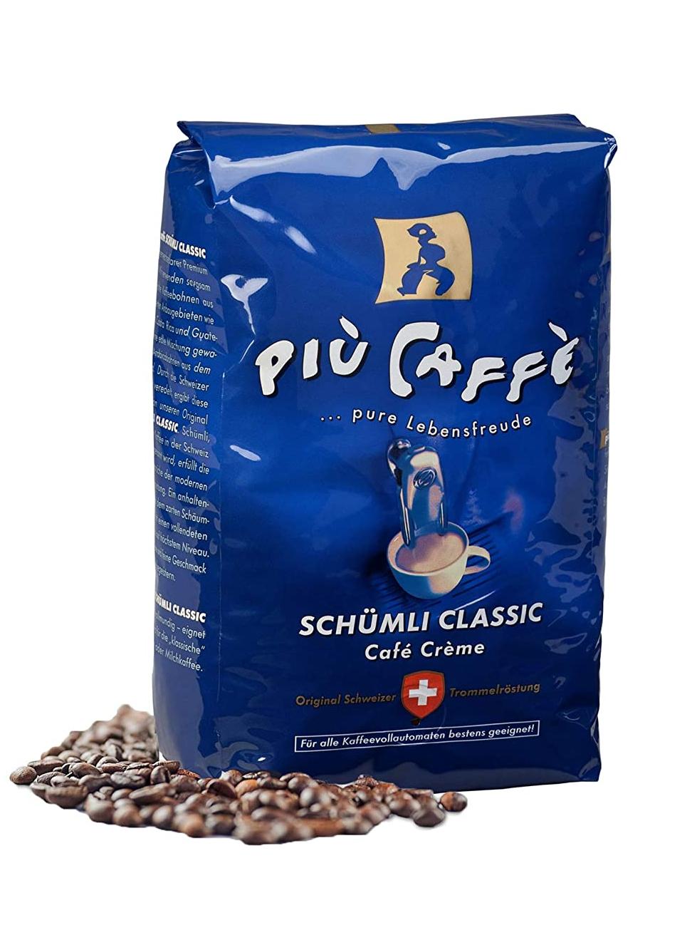 più caffè Schümli Classic Café Crème Kaffeebohnen, 1kg Prime