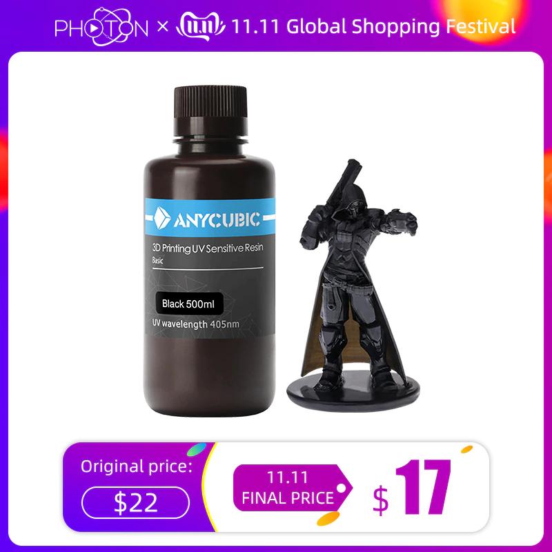 ANYCUBIC 3D Drucker 405nm UV Harz 1L in verschiedene Farben für 20,08€