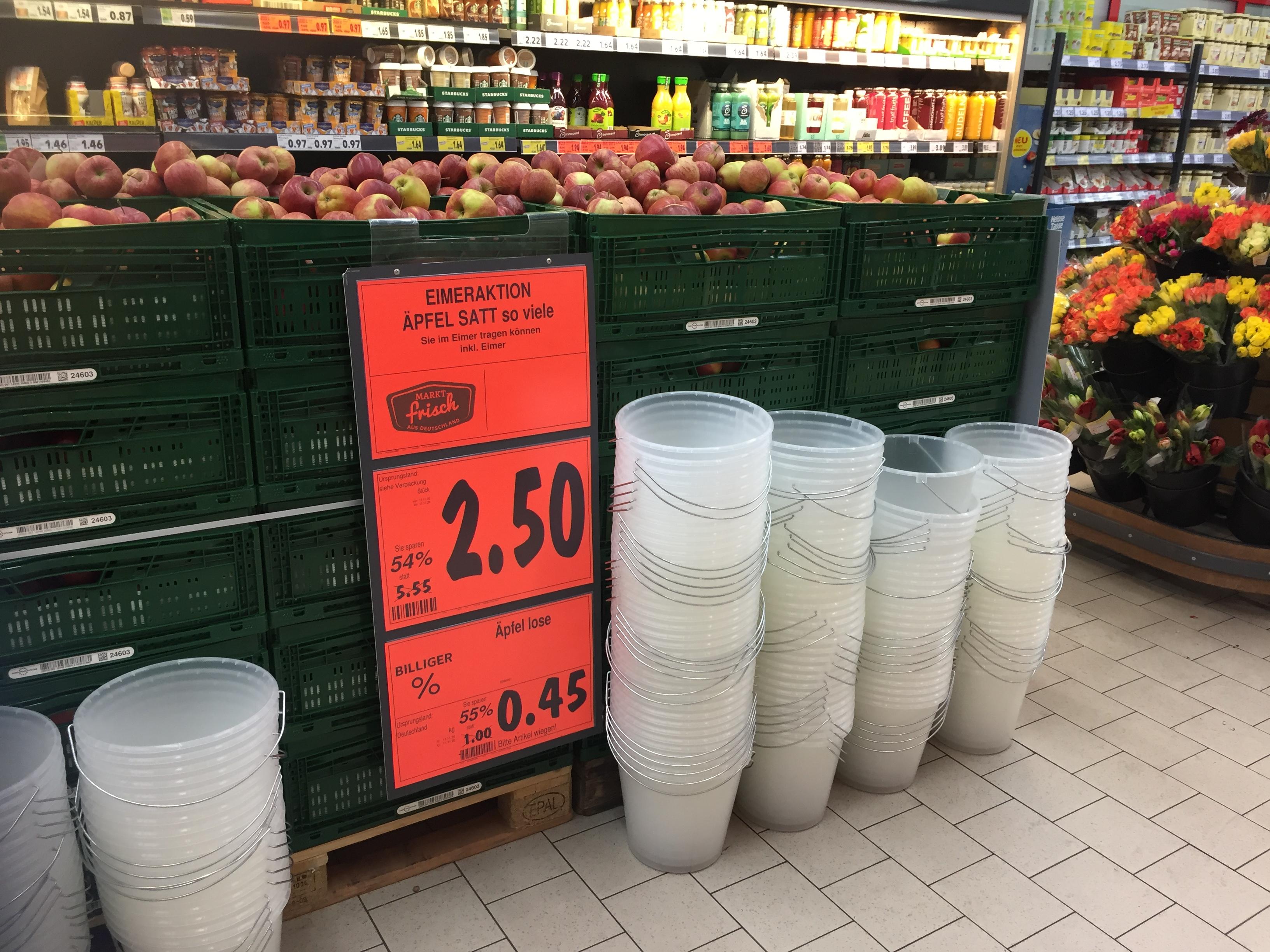 (Lokal) Kaufland Berlin Marzahn Äpfel Eimer Aktion 2,50€