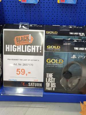 [Lokal Berlin Europacenter] PS4 Gold Wireless Headset The Last of Us Part 2 Edition