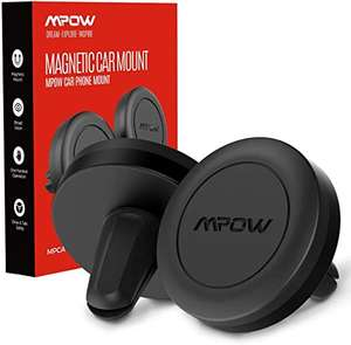 """[Amazon Prime] Mpow Magnetic Handyhalterung Auto ( 2er Pack, kompatibel mit 4""""- 6,9"""" , Stückpreis 2,99€ )"""