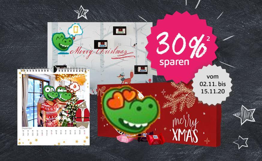 Foto Adventskalender - Rossmann mit Ritter Sport oder Sarotti Schokolade 30% sparen
