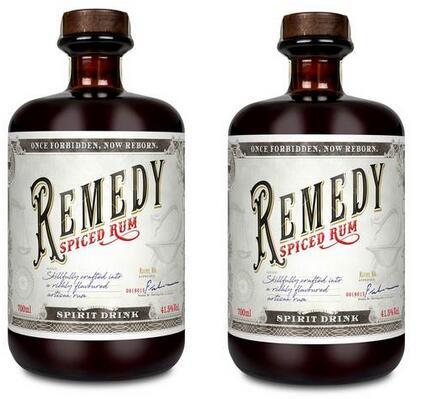 2x Remedy Spiced Rum (2x 0.7 l, 41.5% vol.) [BEVBOX]