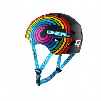 Fahrradhelm für Kinder: O'Neal Dirt Lid Youth Helm - Rainbow Multi