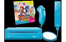 MM Faschings-Knaller: NINTENDO Wii Mario + Sonic Pack blau - Limited Edition