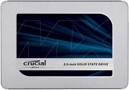 CRUCIAL MX500, 1 TB, SSD, Interner Speicher, 2,5 Zoll, intern für 82,03€