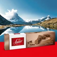[REWE CENTER] Swiss Delice Choco Truffinos Classic oder Noir 100g für 0,76€ statt 1,99€ (Angebot + Coupies)