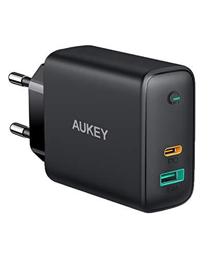 [Amazon Prime] AUKEY USB-C Ladegerät ( 60W Power Delivery, USB-C Netzteil mit Dynamic Detect, GaN Tech, USB-C PD )
