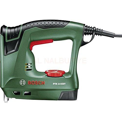"""Bosch Elektrotacker """"PTK 14 EDT"""" (30 Schläge/min, Gewicht 1.1 kg, Klammerlänge 6-14 mm, Nagellänge 14 mm, Inkl. 1000 Klammern) [Amazon]"""