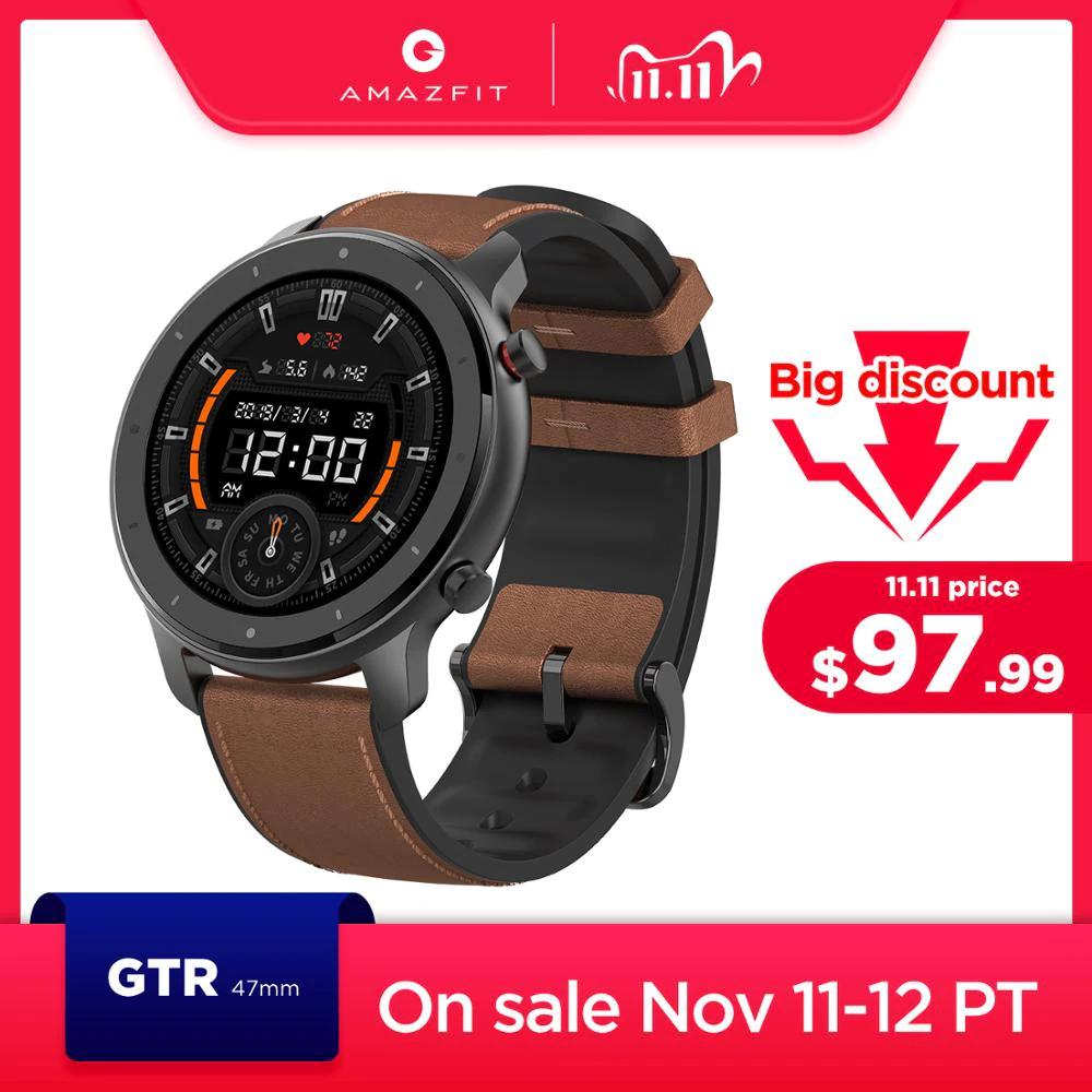 Globale Version Amazfit GTR 47mm Smart Uhr 5ATM Wasserdicht für 73,03€ inkl. Versand aus Polen