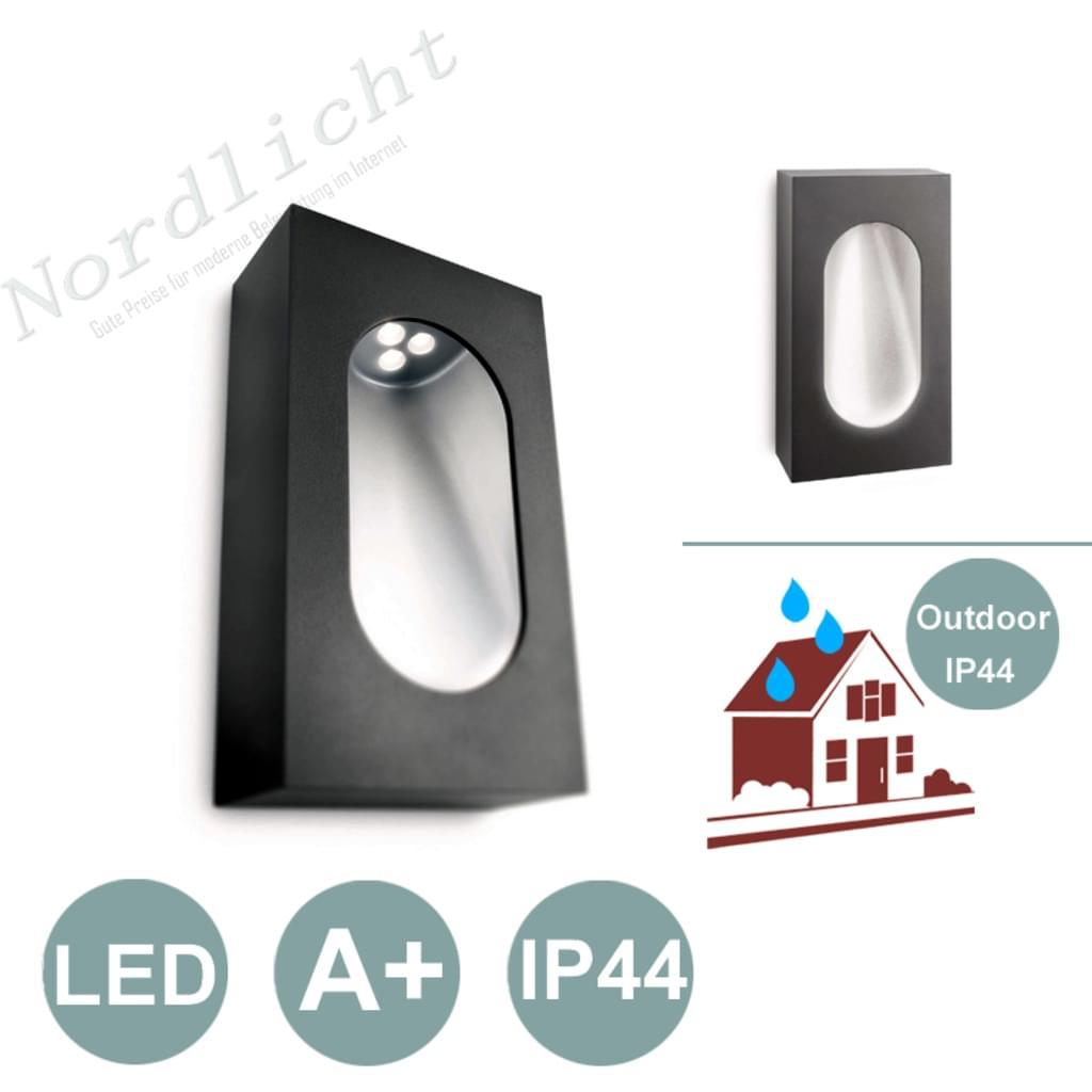 LED Wand-Außenleuchte Philips Ledino 3W IP44 wassergeschützt