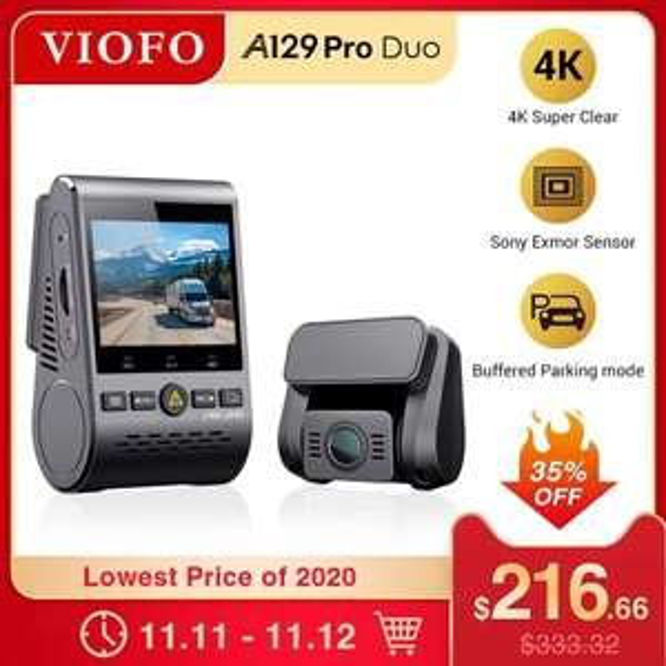 VIOFO A129 Pro Duo 4K Dashcam Vorne + Hinten