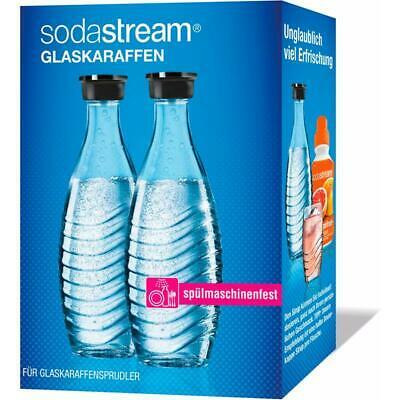 Doppelpack: 2 Stück SodaStream Glaskaraffen 0,6 Liter für 15,29€ inkl. Versandkosten / Reservepack CO2-Zylinder 60L + 1 Karaffe für 25,37€