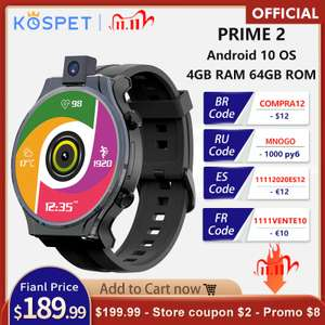 """Kospet Prime 2 Smart Watch 4G 2,1"""" 4GB 64GB 13MP Android 10"""