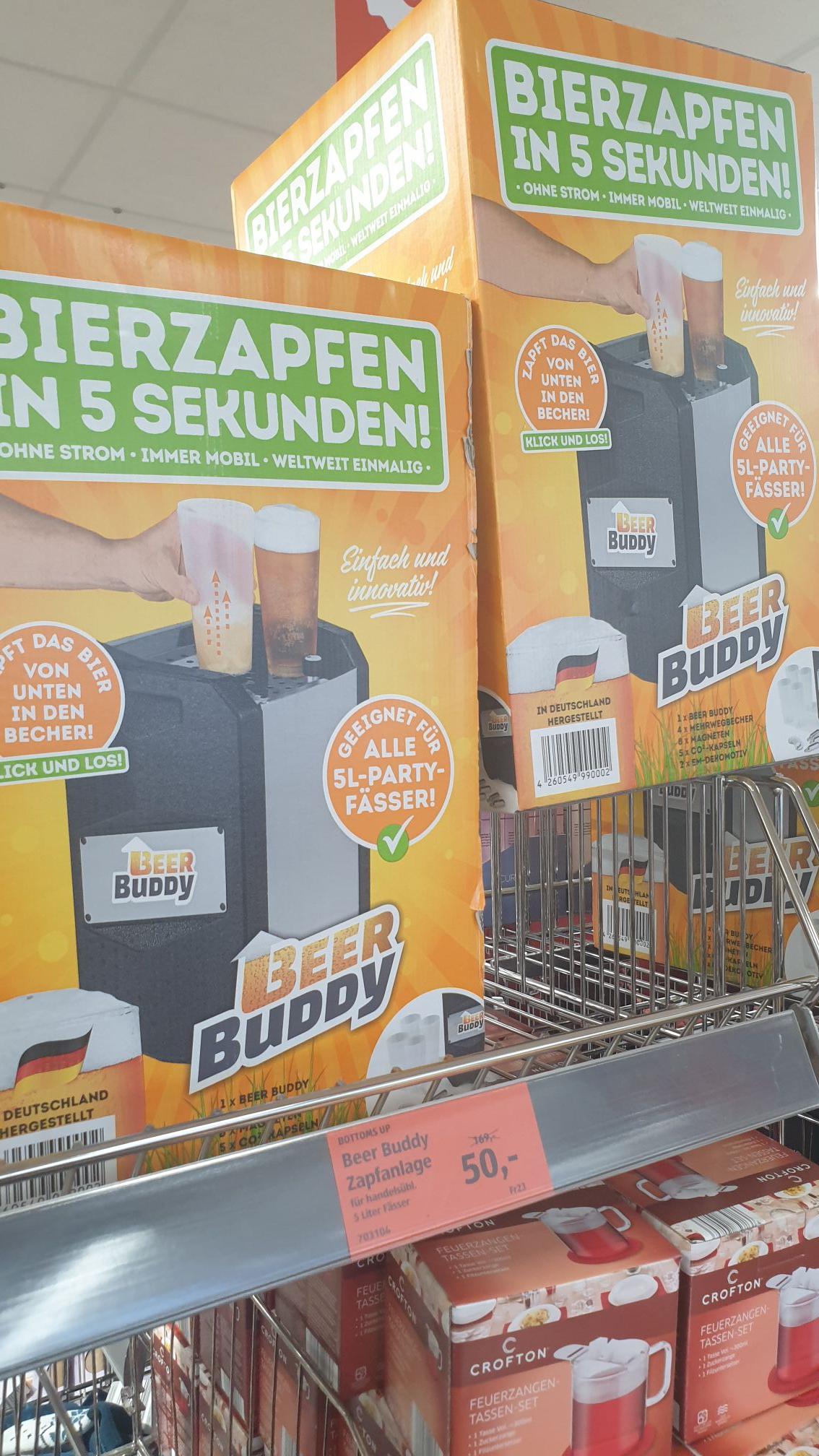 (Lokal Aldi Kempten) - Beer Buddy Zapfanlage für 5 Liter Fässer