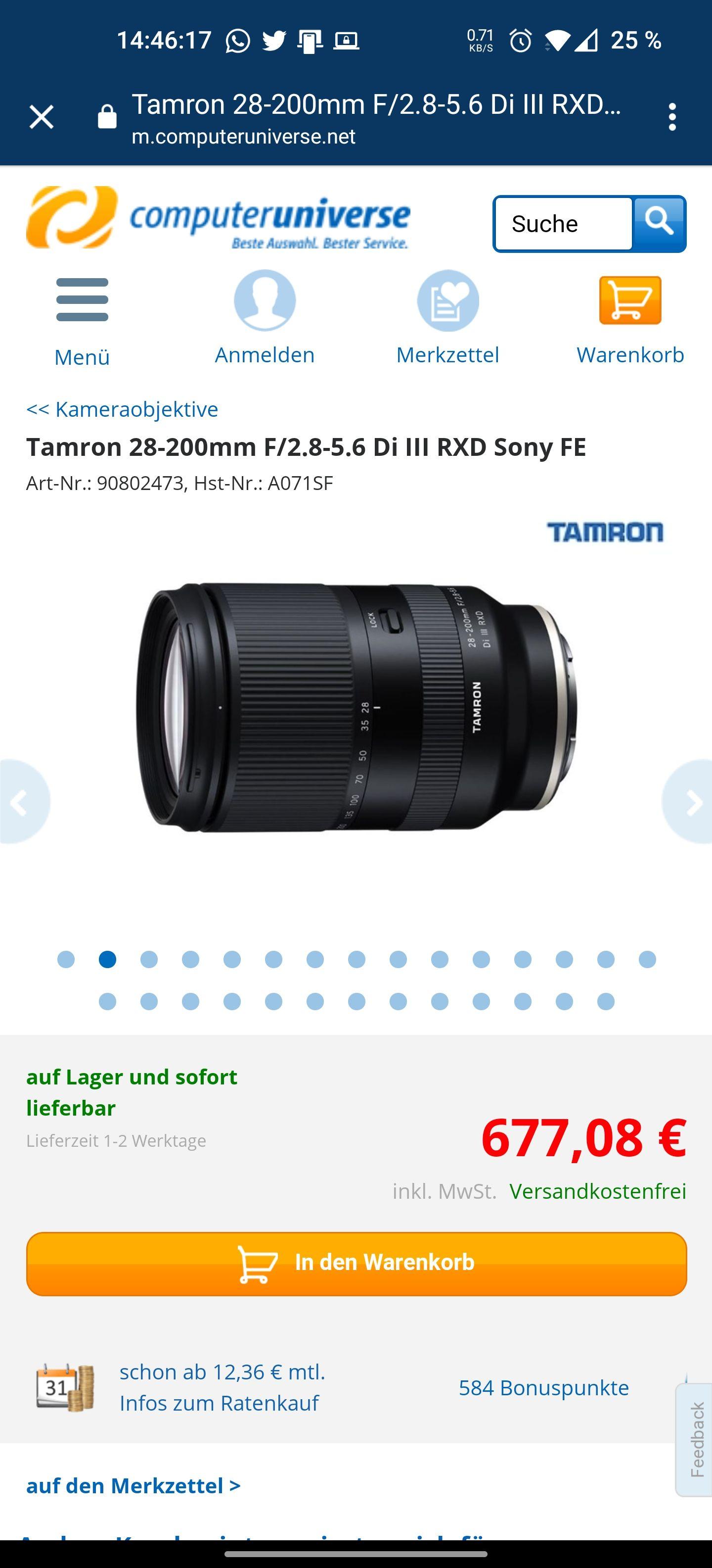 Tamron 28-200mm Sony E-Mount