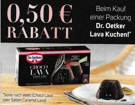 0,50€ Sofort-Rabatt für Dr. Oetker Lava Kuchen - gültig bis 31.12.2020