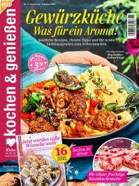 Kochen & Genießen Abo (12 Ausgaben + 2 gratis Hefte) für 42 € mit 30 € Amazon-/Tank-/oder BestChoice-Gutschein