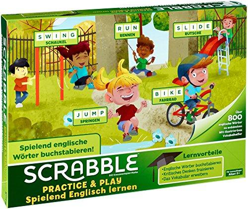 [Prime] Scrabble Practice und Play Spielend Englisch Lernen Wörterspiel, Kinderspiel geeignet für 2 - 4 Spieler, ab 5 Jahren