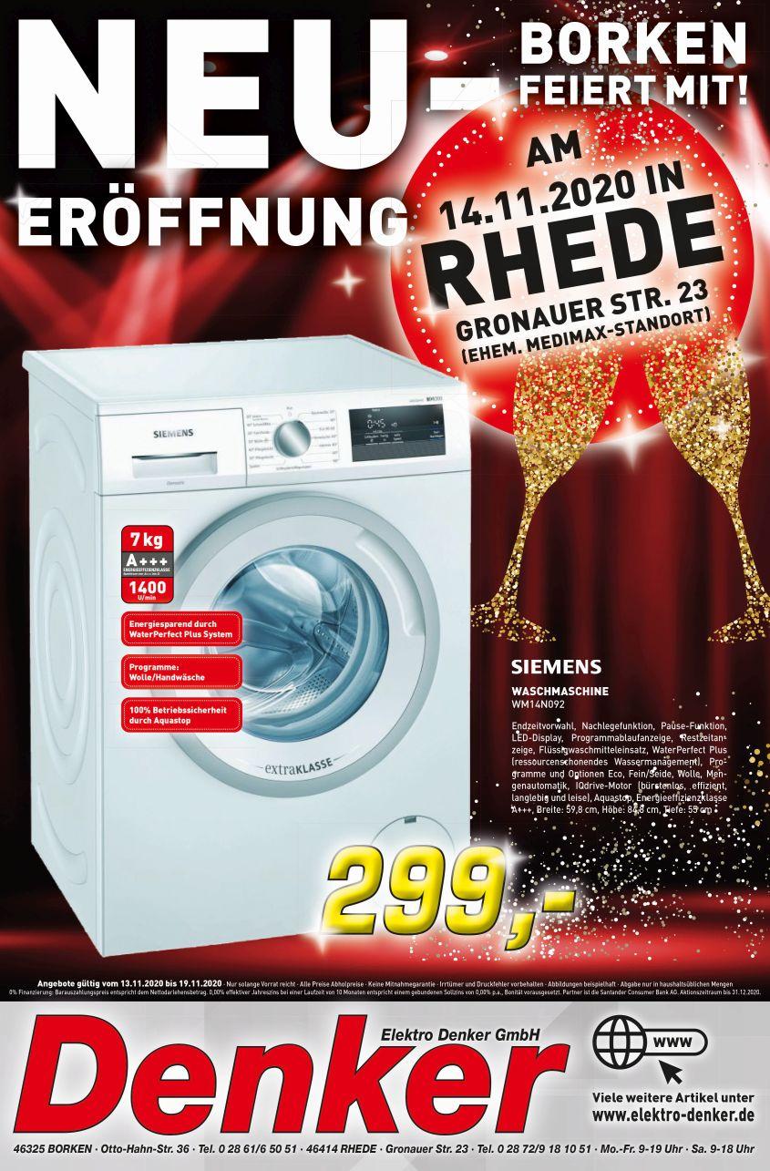 Siemens Waschmaschine WM14N092 [LOKAL IN BORKEN UND RHEDE]