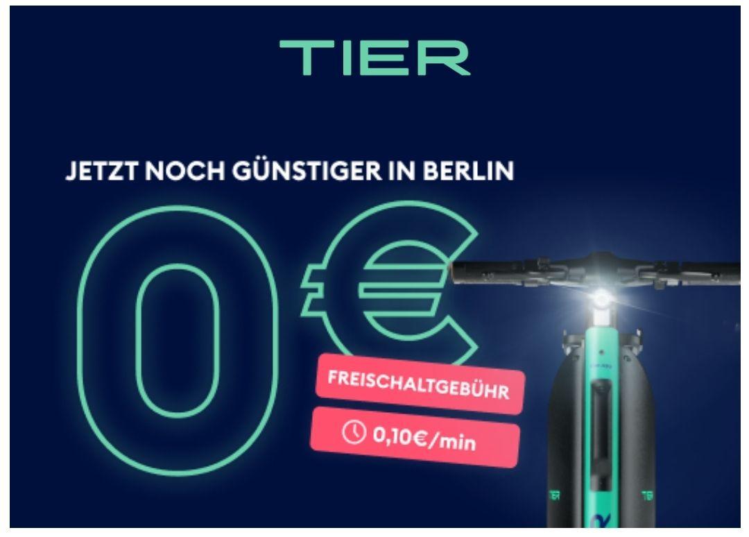 [Lokal Berlin] Tier E-Scooter 0,10€/min