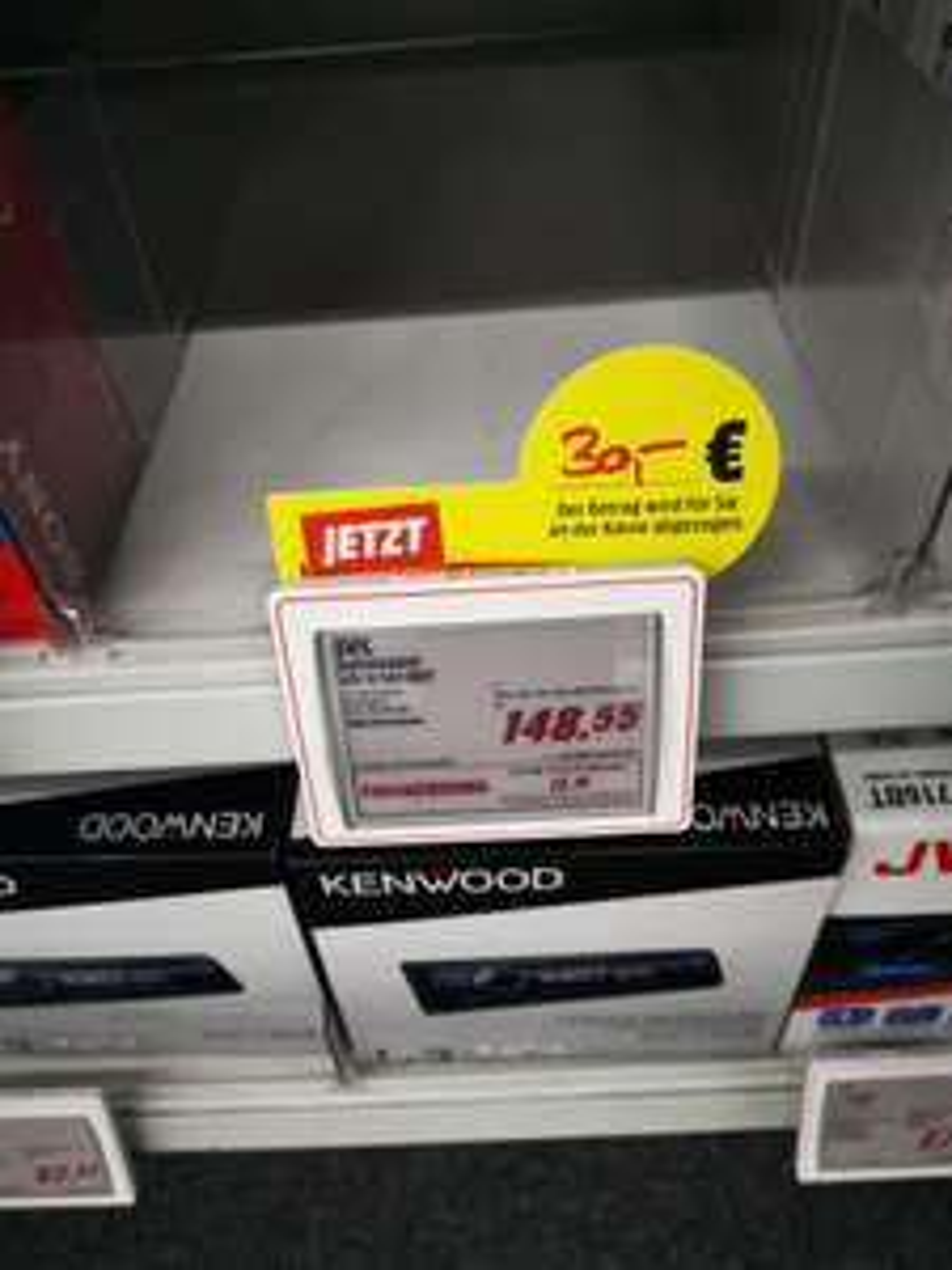 (Lokal) JVC KD-X 561 DBT DIN 1 Autoradio für 118,55 mit 30 € Abzug an der Kasse Limburg an der Lahn