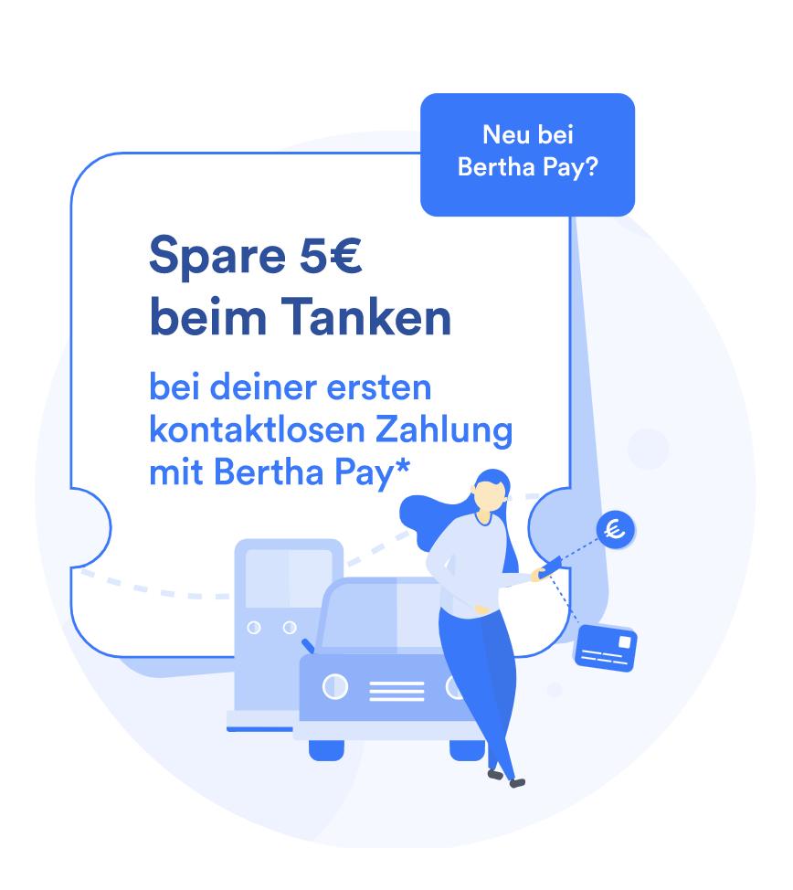 5€ beim Tanken für Neukunden & 5 ct/Liter für Bestandskunden (Freebie für NK möglich)