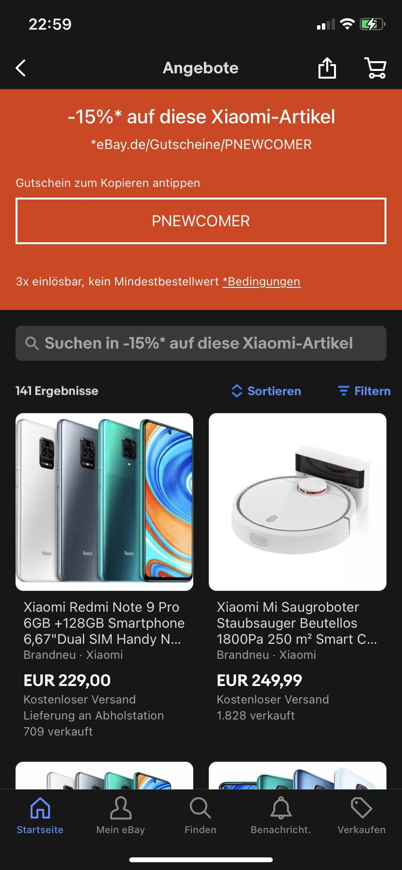 Ebay 15% Gutschein auf neue Marken z.B Xiaomi