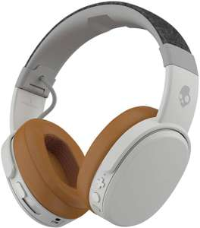 Skullcandy Crusher Wireless Over-Ear-Kopfhörer (Passive Noise Cancelling, 40h Akku, Quick-Charge, Headset, 40 mm Dual-Treiber) Grey-Brown