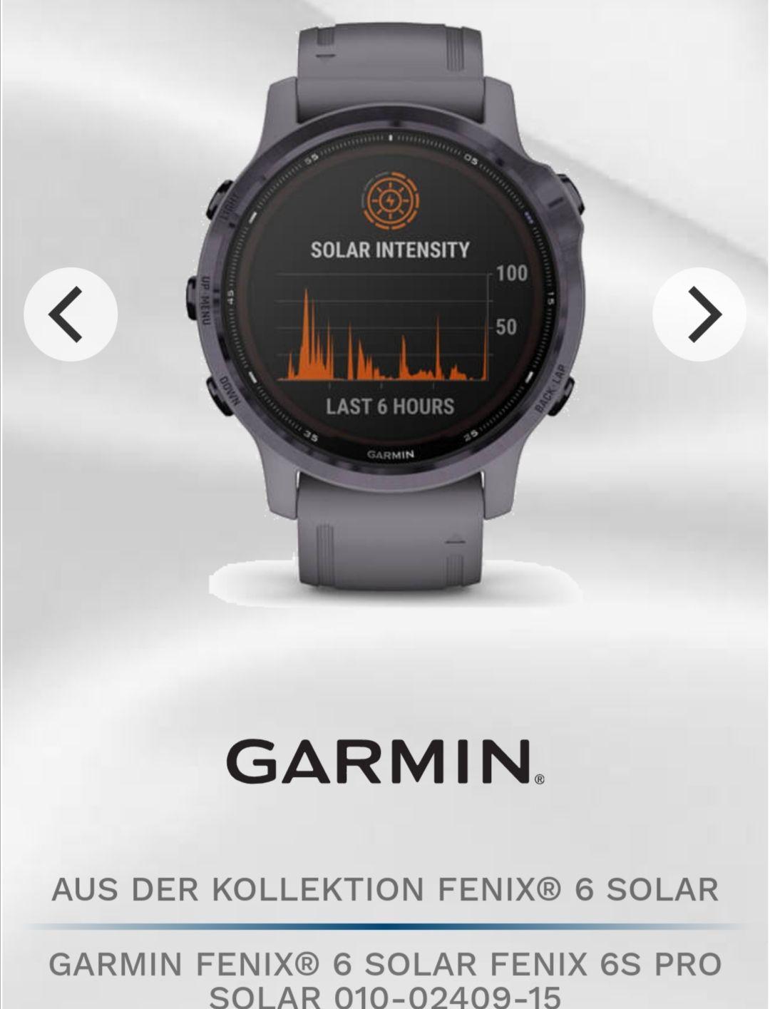 Garmin Fenix 6s Pro Solar auch in anderen Farben erhältlich.