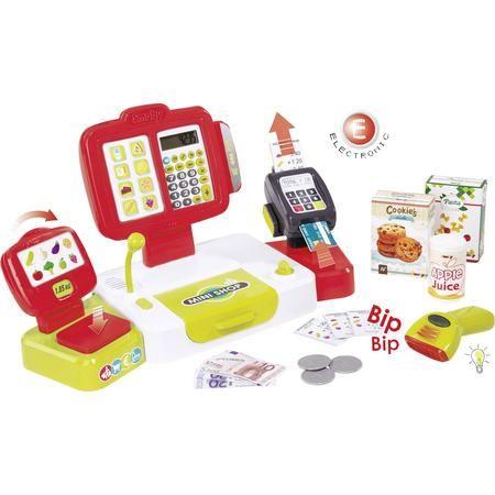 Smoby - Elektronische Supermarktkasse XL - Spielkasse mit Taschenrechnerfunktion [Voelkner & SMDV]