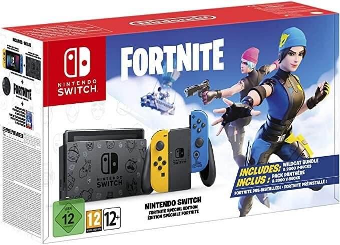 Nintendo Switch Fortnite Special Edition Bundle inkl. Spiel u. 2000 V-Bucks für 289,71€ inkl. Versandkosten