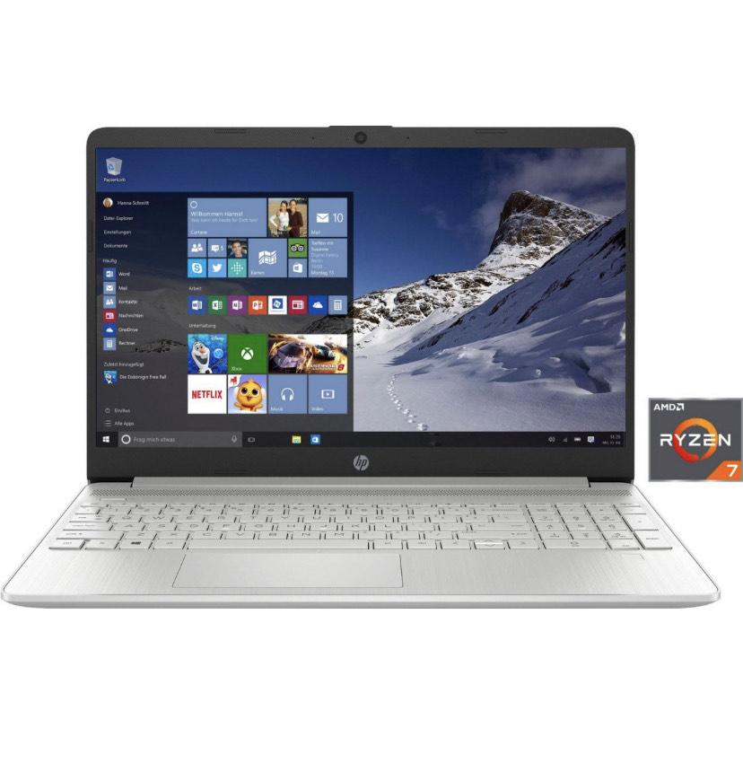 HP 15s-eq1266ng Notebook (39,6 cm/15,6 Zoll, 16GB RAM, AMD Ryzen 7, Radeon, 512 GB SSD, inkl. Office-Anwendersoftware Microsoft 365 Single