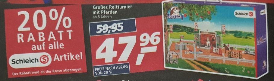 20% auf alle Schleich-Artikel, z.B. Schleich 42338 Horse Club Spielset - Großes Reitturnier mit Pferden, real