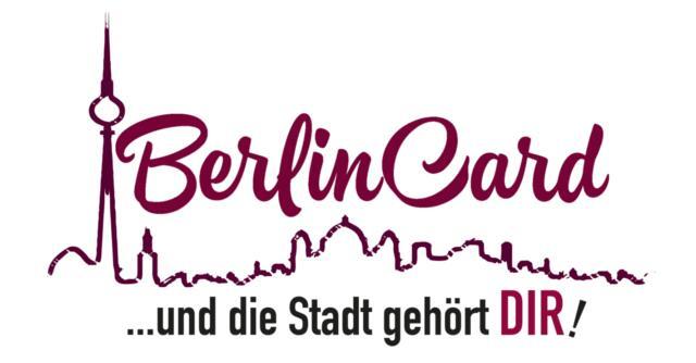 7 Tage (7,20€) oder 1 Jahr (15,92€) BerlinCard inkl. BerlinCard-Wegweiser für 1 Person