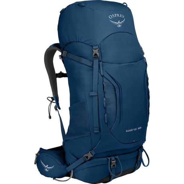 Osprey Herren Kestrel 58 Rucksack (Größe S/M,blau) // Gewicht: ca. 1750 g / Volumen: ca. 56 l