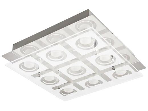 "Philips LED Deckenleuchte ""39517/11/P1 MYLIVING POLYGON"" (35 x 35 cm, Aus Glas + Metall, 9x 4.8 W, 3600 lm, 2700 K, Warmweiß) [iBOOD]"