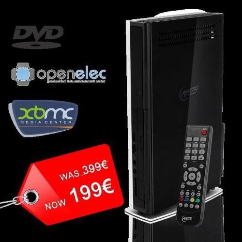 MC001 mit vorinstalliertem XBMC, Fernbedienung und 1TB Festplatte für 199€ inkl. Versand und MwSt