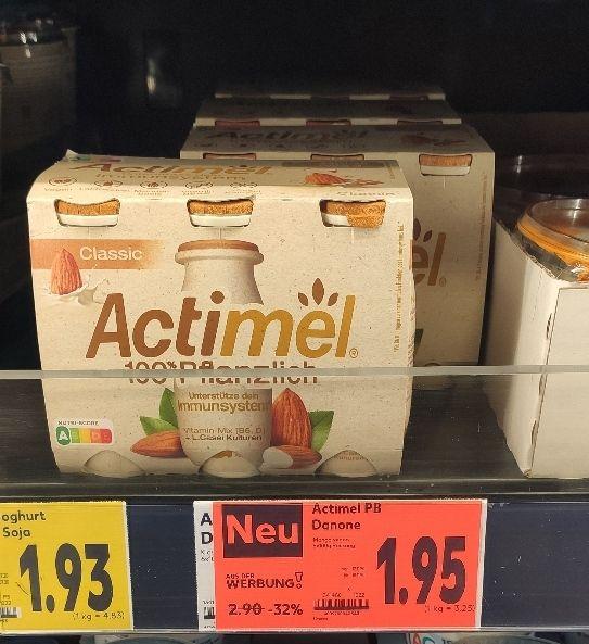 [Kaufland Do-Mi] Actimel 100% Pflanzlich mit Coupon für 0,95€