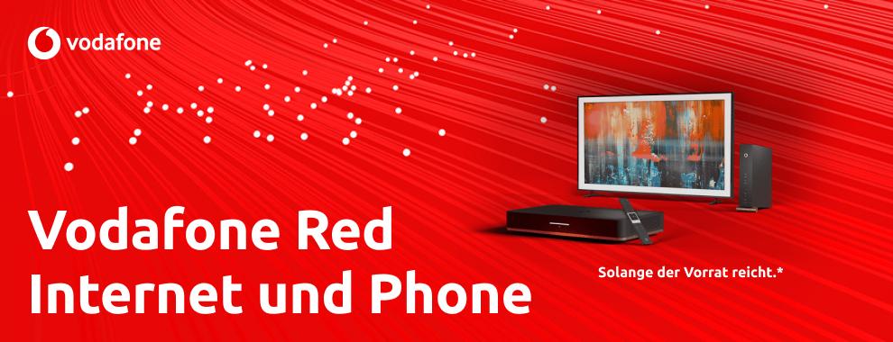 "Vodafone Red Internet & Phone 1000 Cable + Giga TV für 120,99€ einmalig, 64,98€ mtl. Bonus: 55"" Samsung The Frame, AVM FRITZ!Box 6591 + 2400"