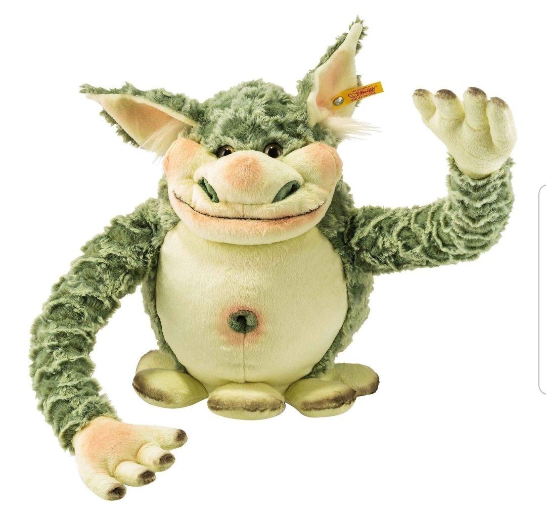 Steiff Kuscheltier   Edric Monster   Beschützer   Wohnt auf und unter dem Kinderbett