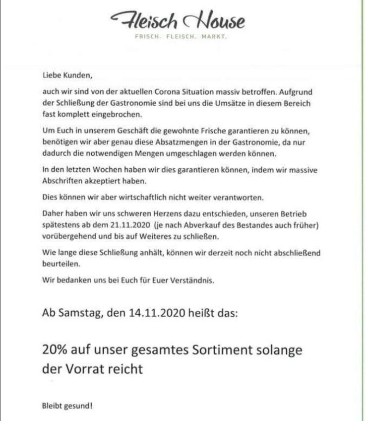 [Lokal] Fleisch-House 20% auf alles (Obertraubling/Regensburg)