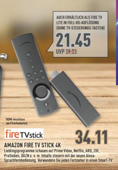 [Marktkauf Rhein Ruhr ab 23.11] Fire TV Stick (4K) für 34,11€ oder Fire TV Stick (Lite) für 21,45€