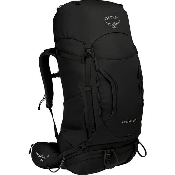 Osprey Kestrel 68 Trekkingrucksack für Männer - Black (M/L) / 1.780 g / 68 Liter