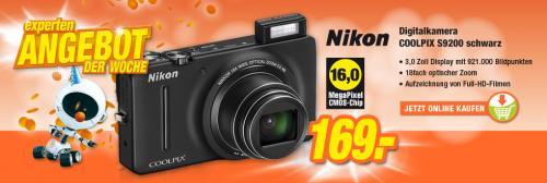 Digicam Nikon Coolpix S9200 für 169.-€
