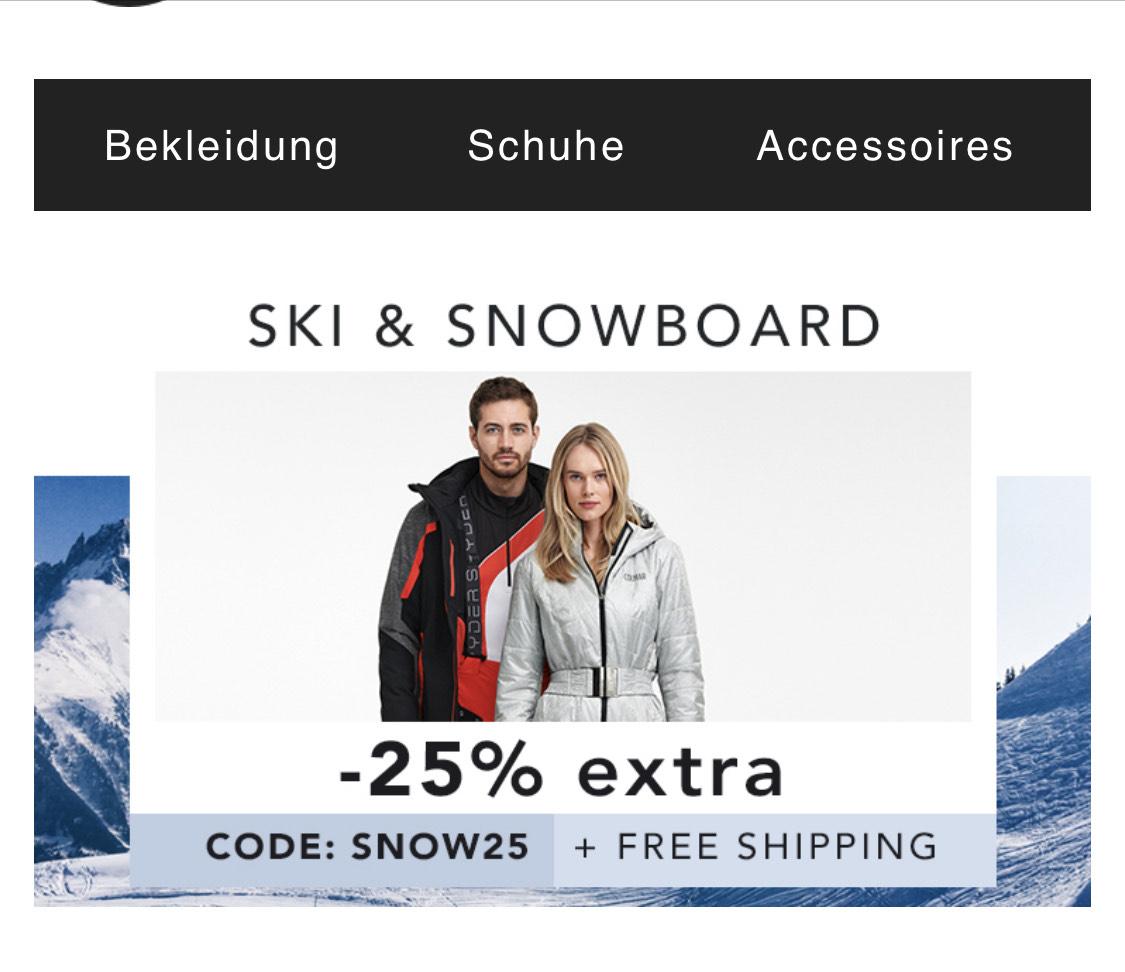 -25% Gutschein und Kostenloser Versand bei Best Secret auf Ski & Snowboard